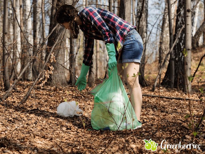 nachhaltiger leben - muell sammeln