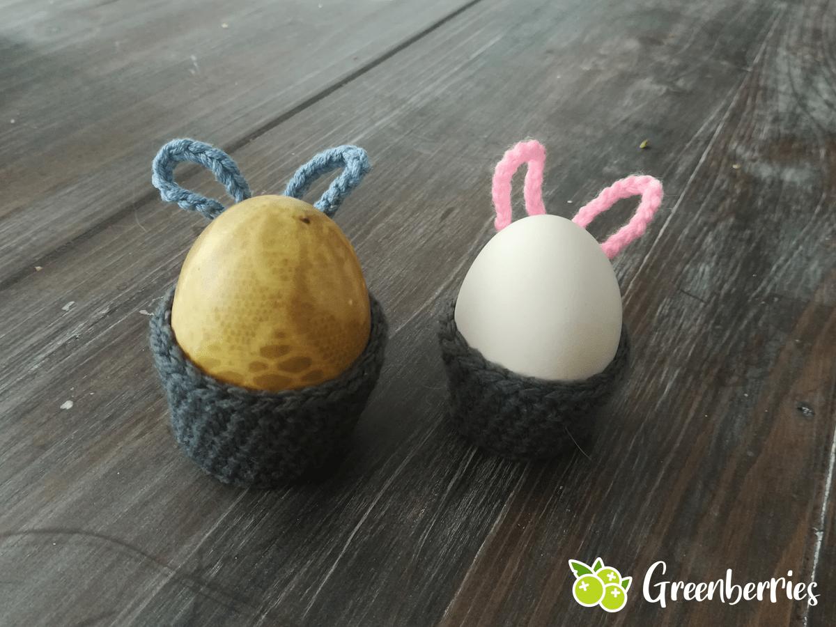 Ostereierbecher mit Hasenohren haekeln