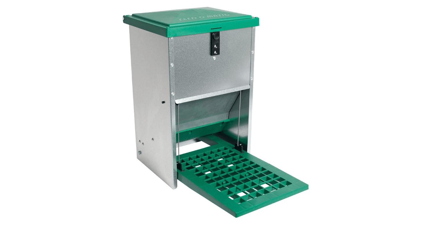 Futterautomat Trittklappe Huehner