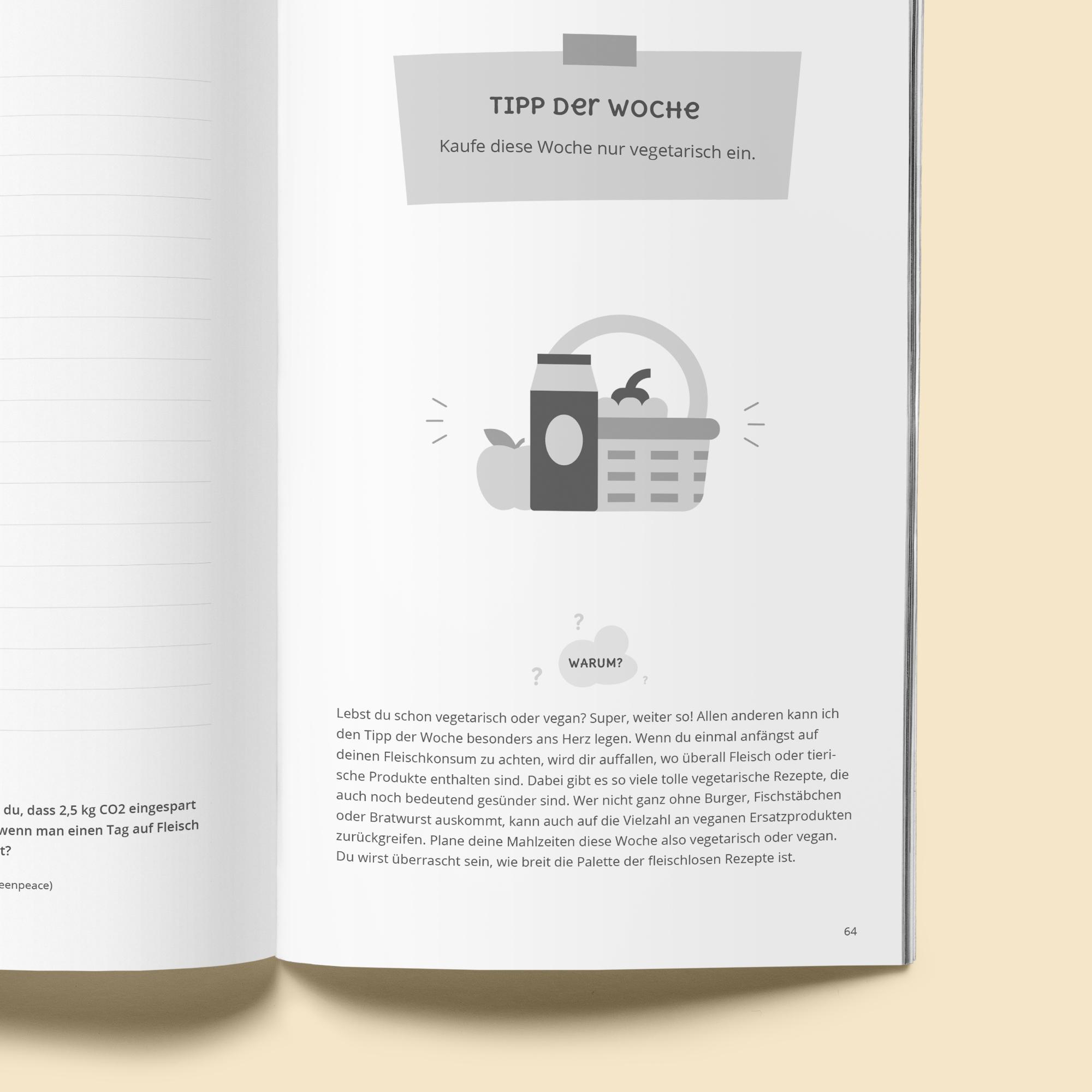 Dein nachhaltiges Jahr - Blick ins Buch - Nachhaltige Tipps