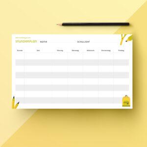 Stundenplan - Dein nachhaltiges Jahr